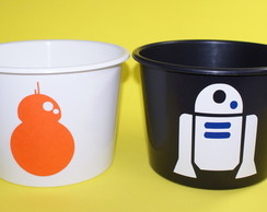 Balde Star Wars - BB8 e R2D2