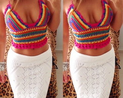 Top Cropped Crochet Colors