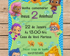 Convite Bubble Guppies Digital