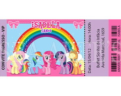 Convite Ingresso - My Little Pony