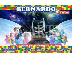 Arte Convite Digital - Lego Batman