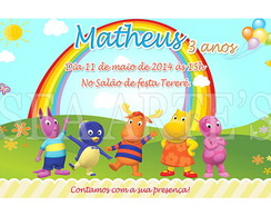 Arte Convite Digital - Backyardigans
