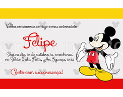 Arte Convite Digital - Mickey Mouse