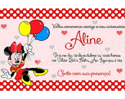 Arte Convite Digital - Minnie
