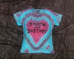 Babylook tie dye skate and destroy