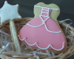 Cookie decorado - Kit princesa