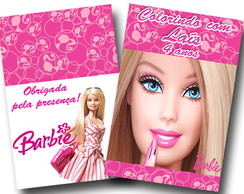 Revista para colorir Barbie 14x10