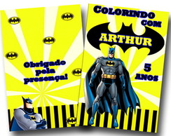 Revista para colorir Batman 14x10