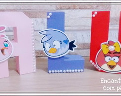 Letras 3 D Angry birds
