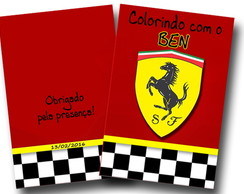 Revista colorir Ferrari 14x10
