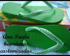 Havaianas Top verde customizadas
