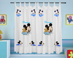 Cortina Mickey Baby Infantil com Nome