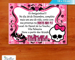 Convite 10 x 15 - Monster High
