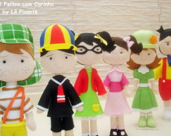 Bonecos da turma do Chaves kit com 6