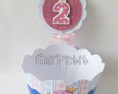 Kit Cupcake - Saia com Topper Peppa