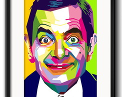 Quadro Mr. Bean Pop Art com Paspatur