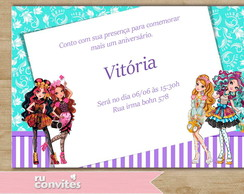 Convite Ever After High (515)