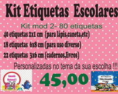 Kit etiquetas escolares - volta as aulas