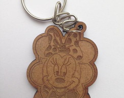 Kit chaveiro modelo Minnie 3 MDF