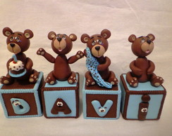 cubos decorados Urso Marron