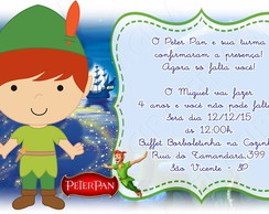 arte convite digital peter pan