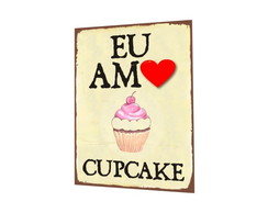 Placa MDF Decor Amo Cupcake - 866