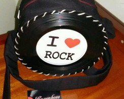 Bolsa de Disco Love Rock N' Roll