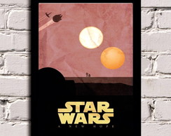 Poster com Moldura Star Wars a new hope