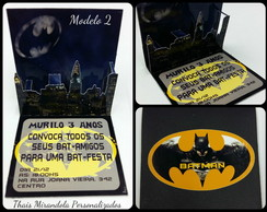 Convite Pop Up Batman