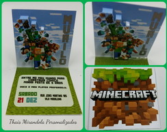 Convite Pop Up Minecraft