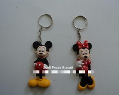 Chaveiro Minnie ou Mickey.