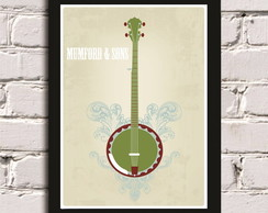 Poster c/ moldura Mumford and Sons
