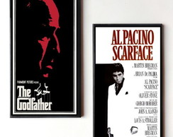 Dupla de Quadros The Godfather/Scarface
