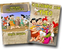 Revista de colorir flintstones 14x10