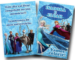 Revista de colorir Frozen 14x10