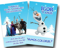 Revista de Colorir Olaf Frozen 14x10