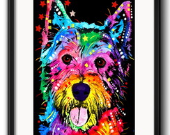 Quadro West Highland Terrier Pop Art com Paspatur