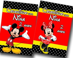 Revista de colorir mickey e minnie 14x10