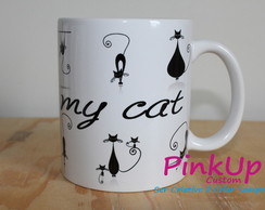 Caneca Personalizada - I Love My Cat