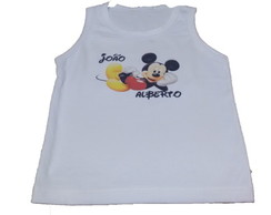 Camiseta regata infantil Mickey Mouse