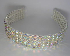 Tiara com strass CR203