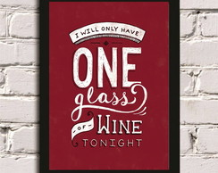 Poster com Moldura One Glass #