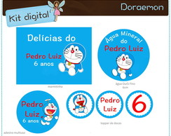 Kit digital Doraemon | para imprimir
