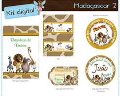 Kit digital Madagascar | para imprimir