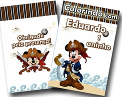Revista para colorir Mickey Pirata 14x10