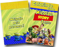 Revista para colorir Toy Story 14x10