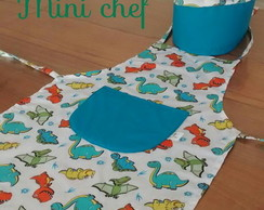 Kit Mini Chef Infantil Dinossauro