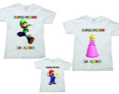 Kit Camisetas para Aniversario do Mario2