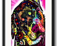 Quadro Rottweiler Pop Art Paspatur