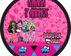 Rótulo Latinha Monster High